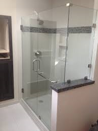 Clipped shower enclosure