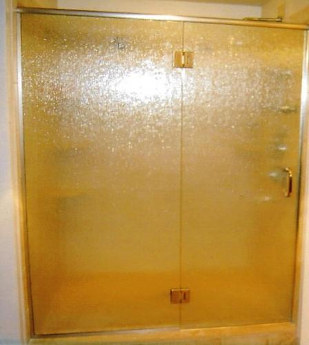 Rain glass door and panel with header