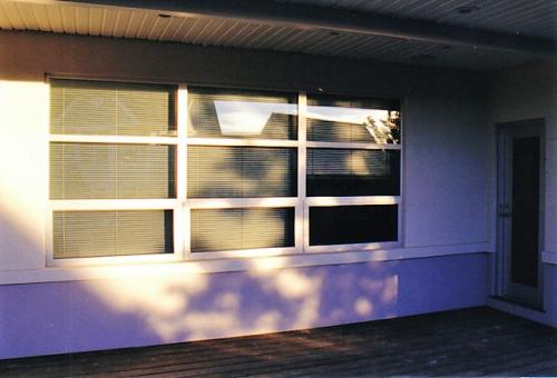 Storefront windows in residential house