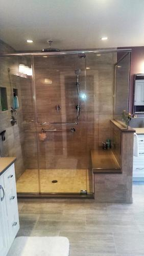 Top and Bottom pivot shower enclosure