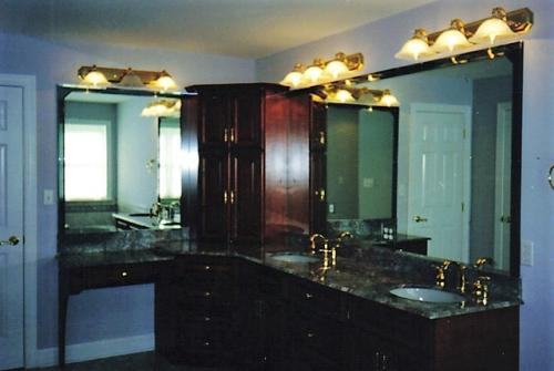 Vanity mirror with overlay