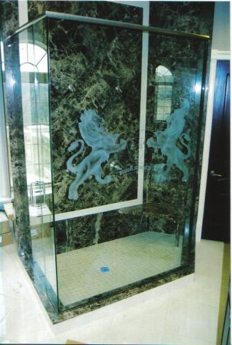 lion shower door
